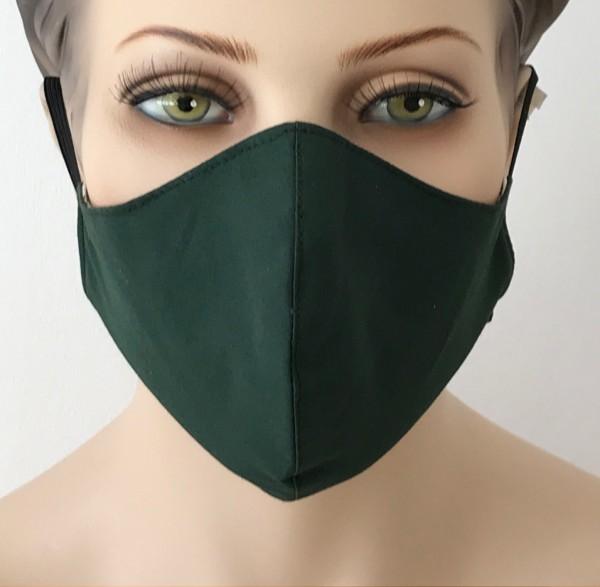 Premium Mund-Nasen-Schutz - Dunkelgrün