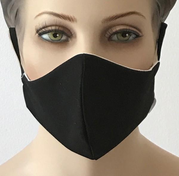 Premium Mund-Nasen-Schutz -Schwarz